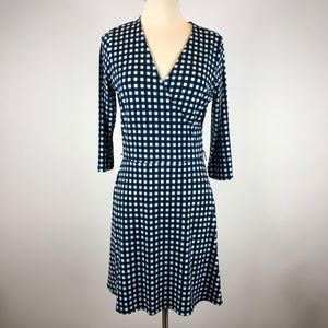 Leota Gingham Wrap Dress